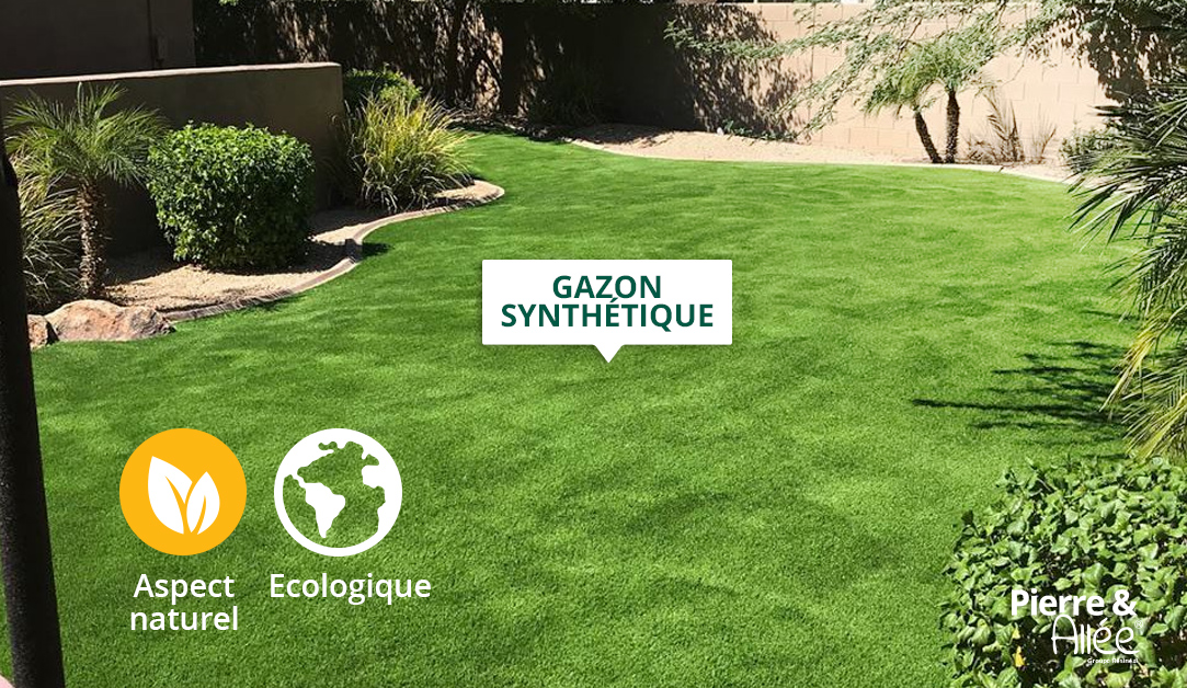 cour en pelouse synthétique