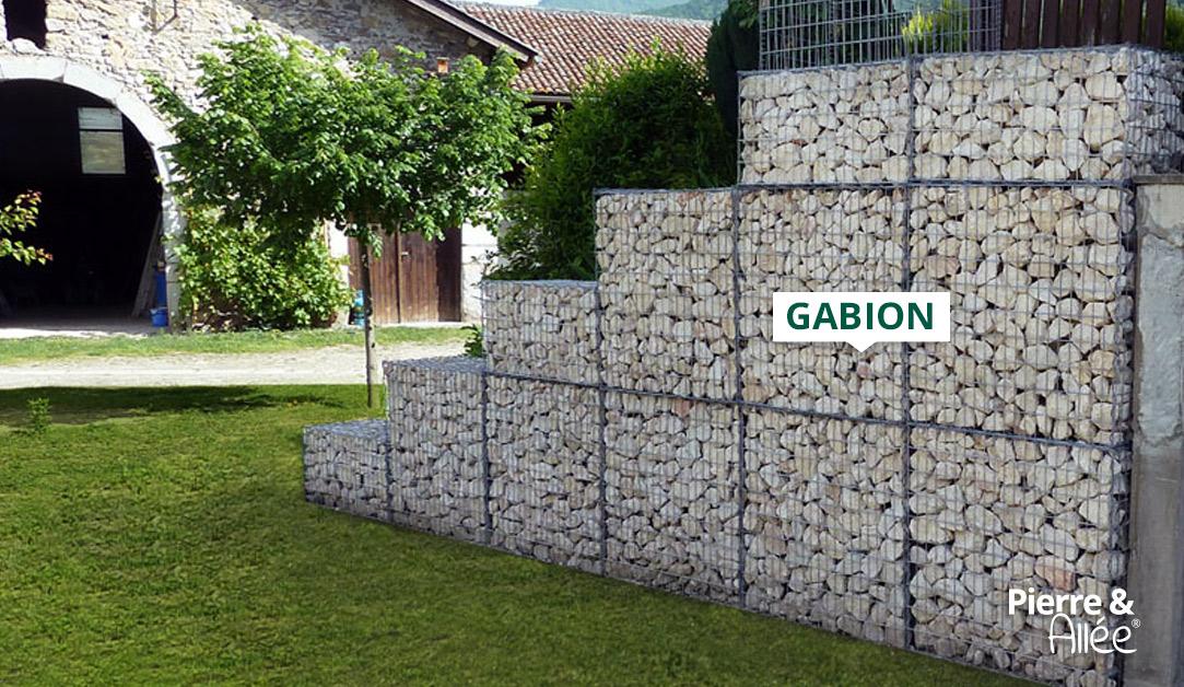 Gabion habillage mur