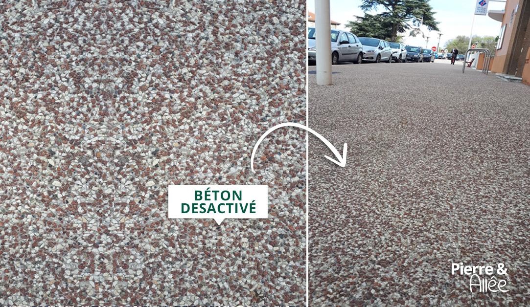 chemin en beton desactive