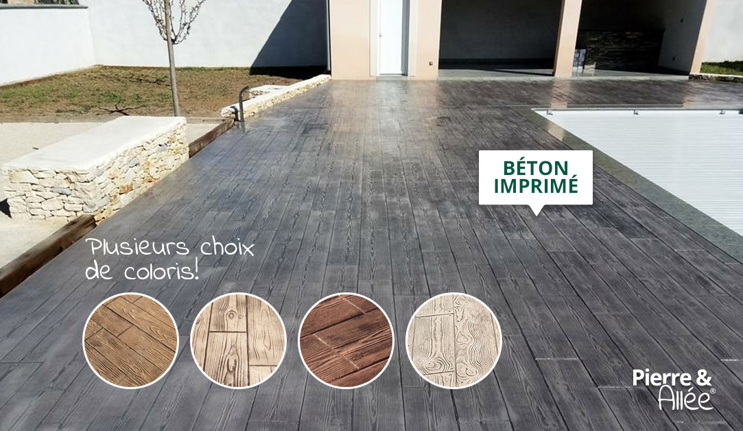 contour de piscine beton imprime coloris