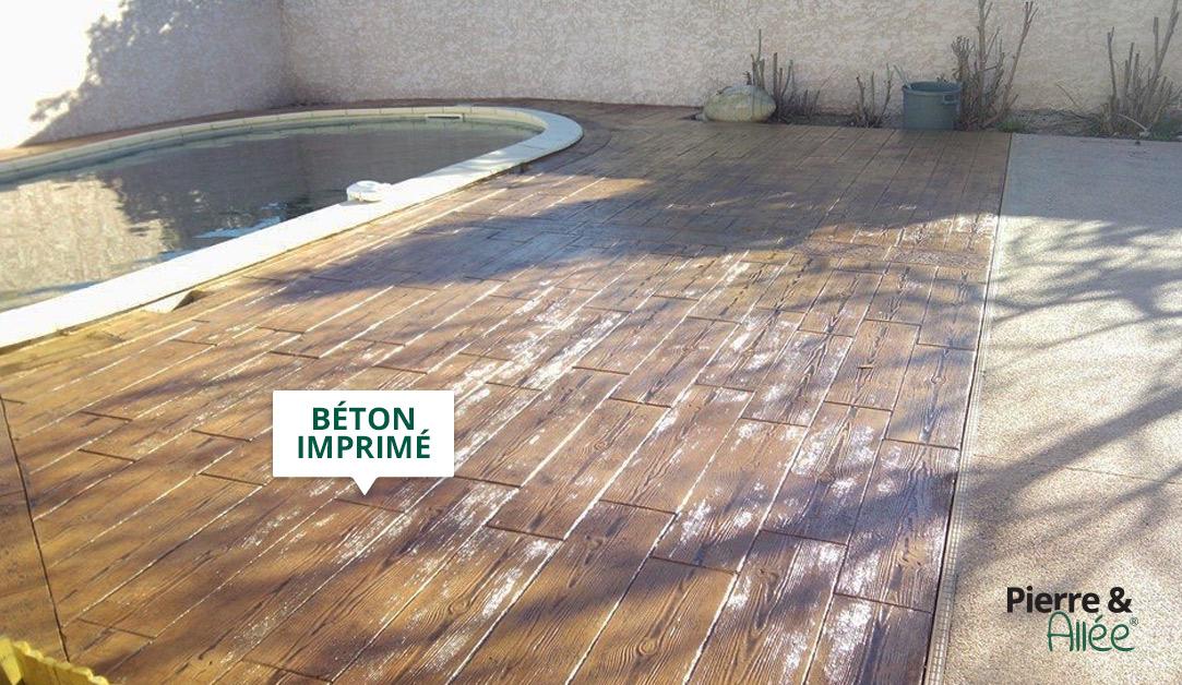 contour piscine beton decoratif imprime