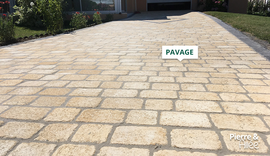pavage acces parking